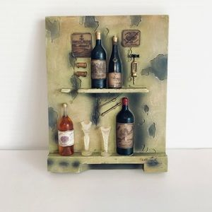 Other - Small stone wine wall decor